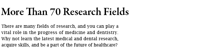 More Than 70 Research Fields